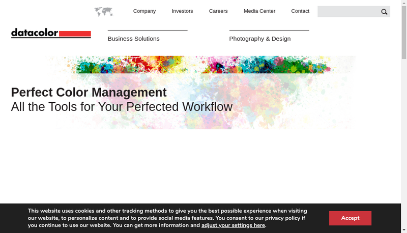 Capture d'écran du site de Datacolor International France