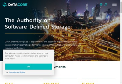 Site internet de Datacore Logiciels