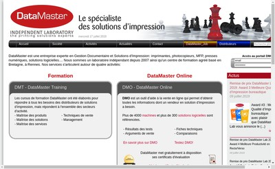 Site internet de Datamaster