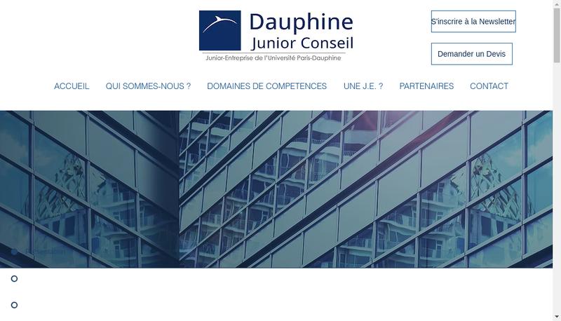 Capture d'écran du site de Dauphine Junior Conseil