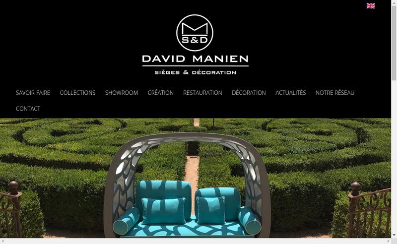 Capture d'écran du site de David Manien