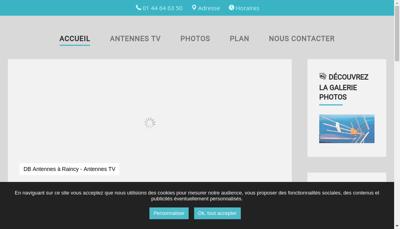Capture d'écran du site de Db Antennes