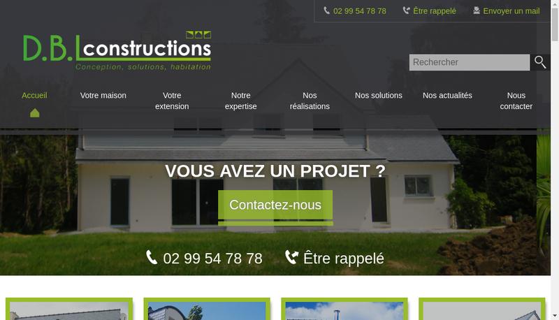 Capture d'écran du site de Dbl Constructions