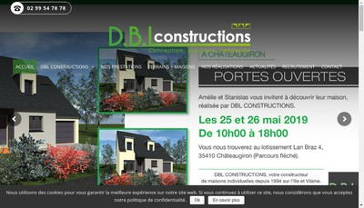 Site internet de Dbl Constructions