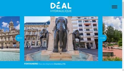 Site internet de Deal Hydraulique