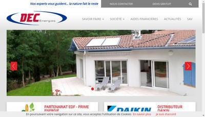 Site internet de Dec Energies Dax