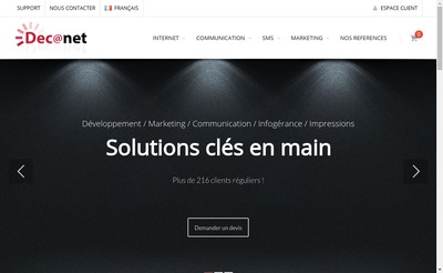 Site internet de Decanet