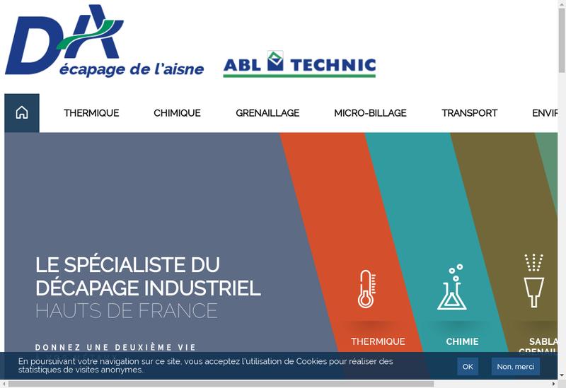 Capture d'écran du site de Decapage de l'Aisne
