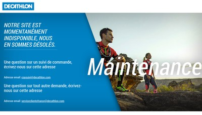 Site internet de Decathlon