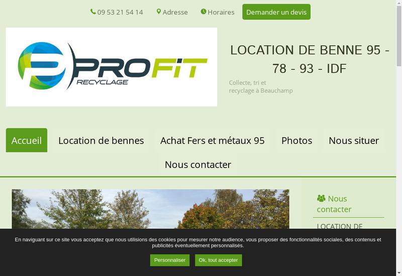 Capture d'écran du site de Societe Profit