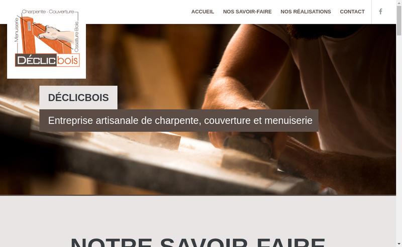 Capture d'écran du site de Declic Bois