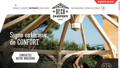 Site internet de Deco Charpente