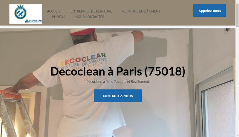 Capture d'écran du site de Decoclean
