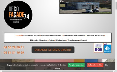 Site internet de Deco Facade 74