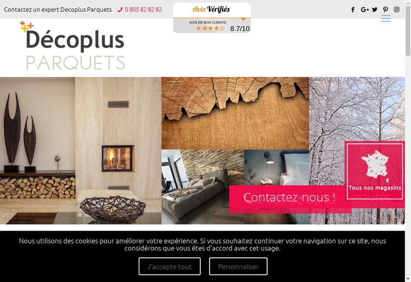 Capture d'écran du site de Decoplus