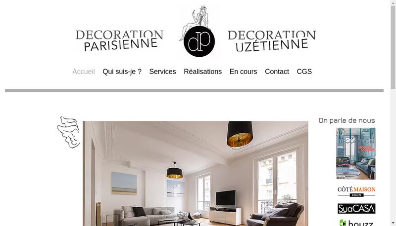 Capture d'écran du site de Decoration Uzetienne