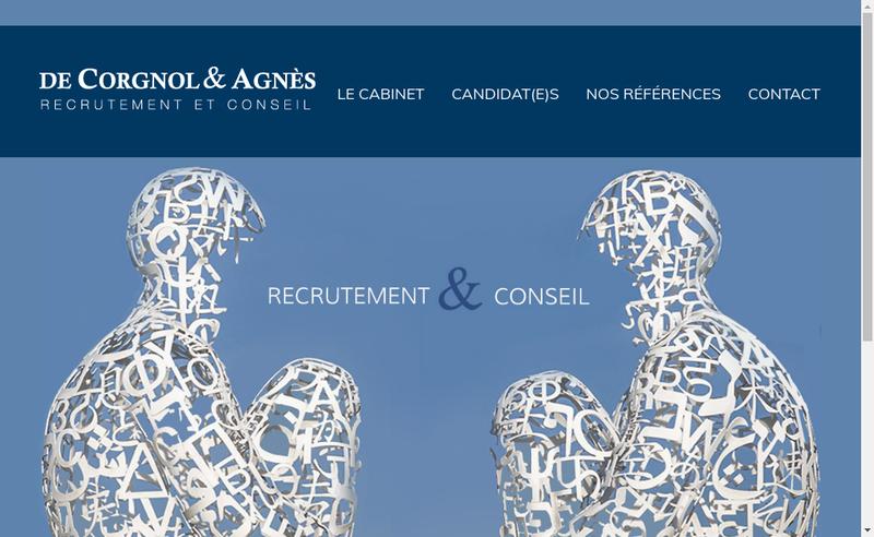 Capture d'écran du site de De Corgnol & Agnes