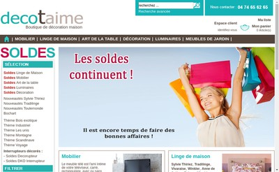 Site internet de Decotaime