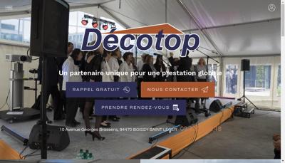 Capture d'écran du site de Decotop