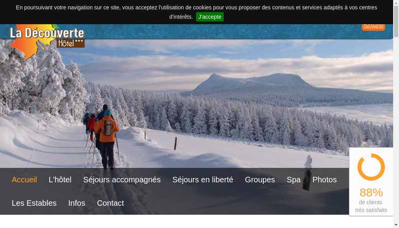 Capture d'écran du site de Hotel la Decouverte