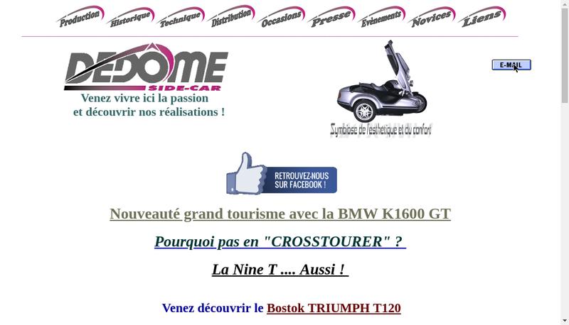 Capture d'écran du site de Dedome