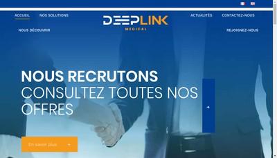 Site internet de Deeplink Medical