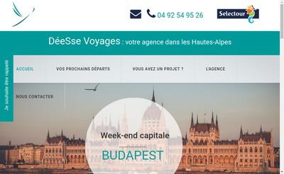 Site internet de Deesse Voyages