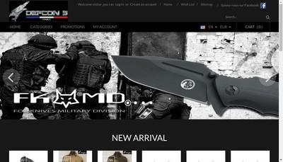 Site internet de S&S Tactical