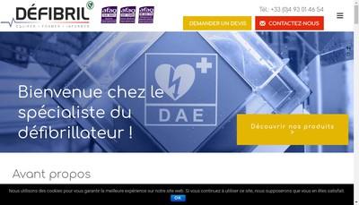 Site internet de MATECIR DEFIBRIL