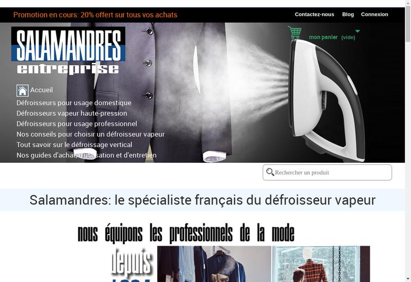 Capture d'écran du site de Salamandres Developpement