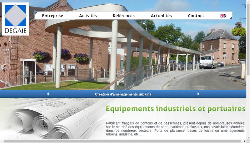 Capture d'écran du site de Degaie Equipements Portuaires