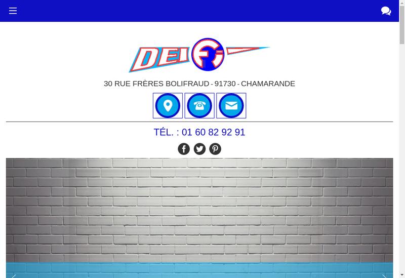 Capture d'écran du site de Deifi