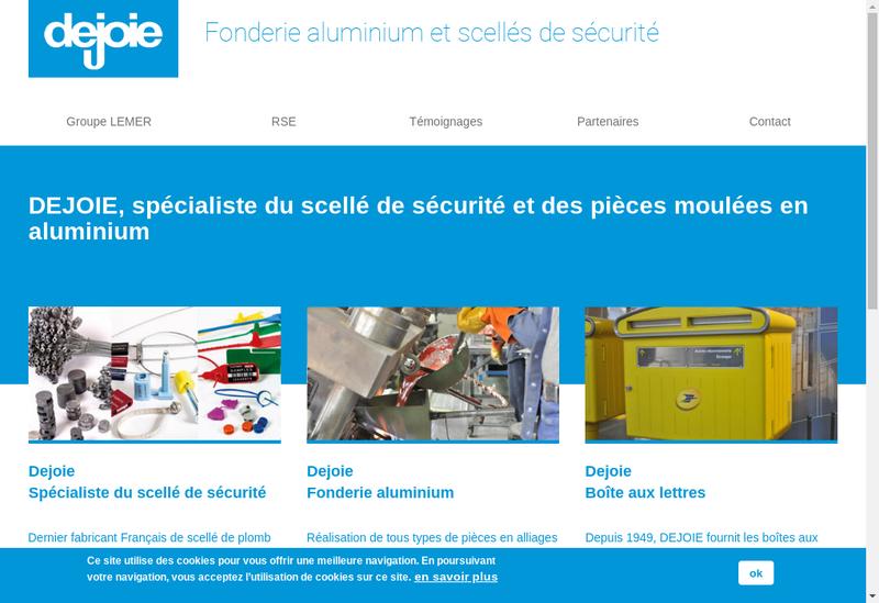 Capture d'écran du site de Dejoie