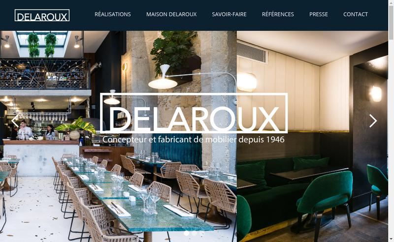 Capture d'écran du site de Delaroux Ameublement