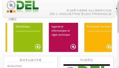 Site internet de Del-la Distribution Electronique