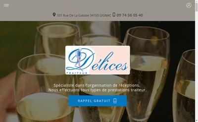 Site internet de Delices Traiteur