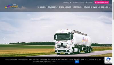 Site internet de Delisle Logistique