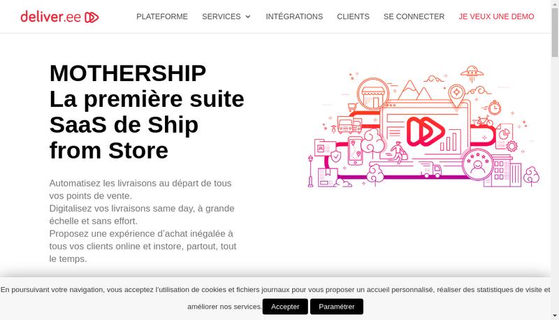 Capture d'écran du site de Deliver Ee