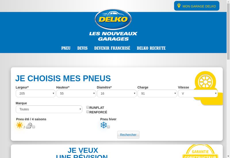 Capture d'écran du site de Delko Developpement