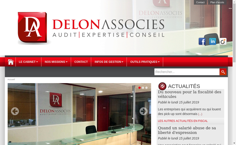 Site internet de Axiome Delon Audit