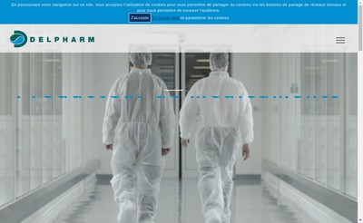 Site internet de Delpharm Reims