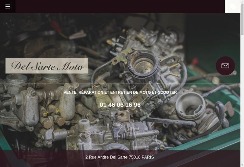 Capture d'écran du site de Del Sarte Moto