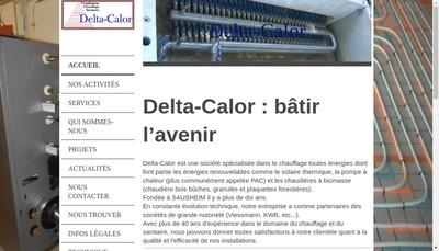 Site internet de SARL Delta-Calor