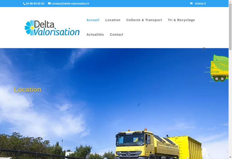 Capture d'écran du site de Delta Valorisation