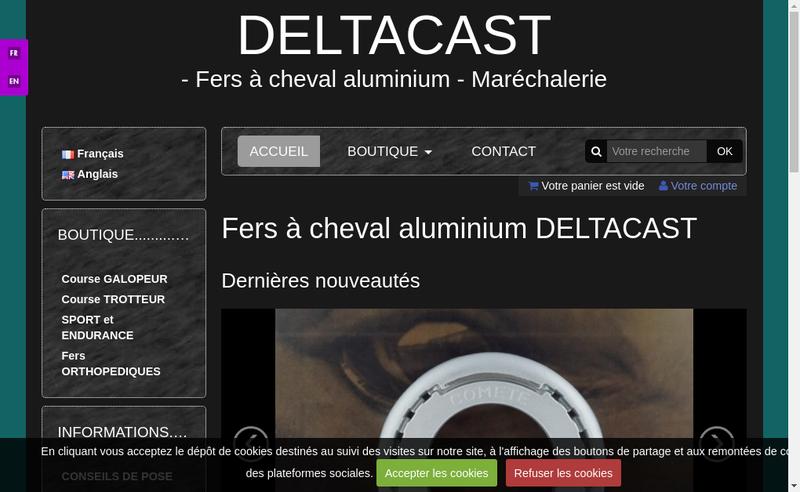 Capture d'écran du site de Deltacast