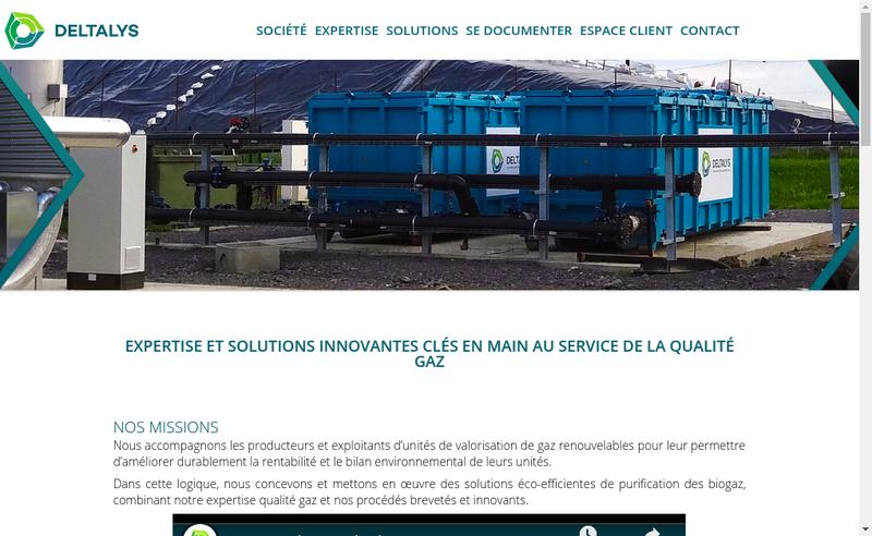 Capture d'écran du site de Deltalys