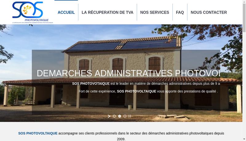 Capture d'écran du site de Sos Photovoltaique