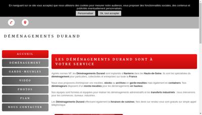 Capture d'écran du site de Demenagements Durand