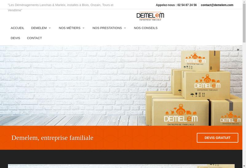 Capture d'écran du site de Demelem