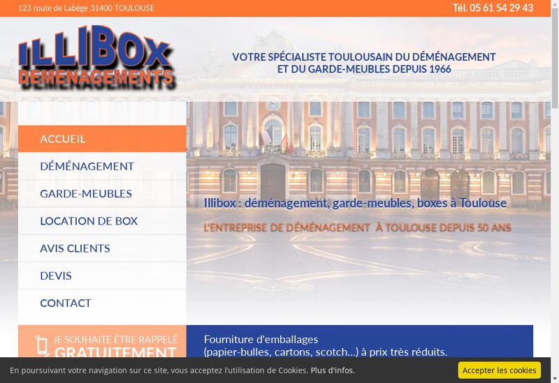 Capture d'écran du site de Illico